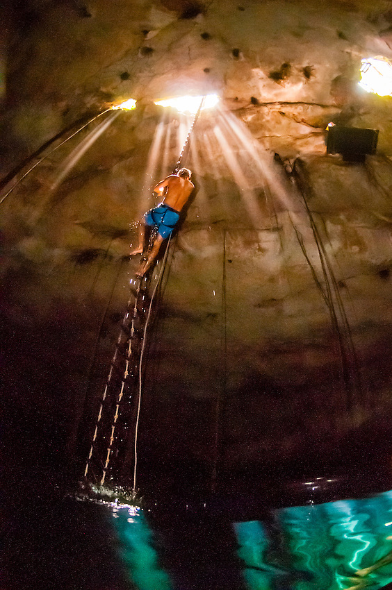 Rappelling Into a Cenote