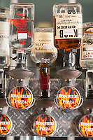 The liquor tap at Pompieri Pizza in Durham, N.C. on Thursday, January 30, 2014. (Justin Cook)