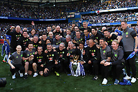 Chelsea Manager, Antonio Conte and his coaching staff celebrate winning the Premier League during Chelsea vs Sunderland AFC, Premier League Football at Stamford Bridge on 21st May 2017