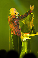 "Fronted by singer Gordon Downie, Canadian rock band The Tragically Hip play a show at the Orpheum in Vancouver, June 22, 2009, during their ""We Are The Same"" tour. (Scott Alexander/pressphotointl.com)"