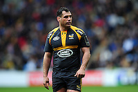 George Smith of Wasps looks on during a break in play. European Rugby Champions Cup quarter final, between Wasps and Exeter Chiefs on April 9, 2016 at the Ricoh Arena in Coventry, England. Photo by: Patrick Khachfe / JMP