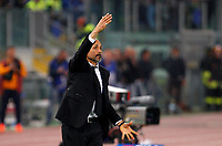 Calcio, Serie A: Roma vs Juventus. Roma, stadio Olimpico, 14 maggio 2017. <br /> Roma&rsquo;s coach Luciano Spalletti gives indications to his players during the Italian Serie A football match between Roma and Juventus at Rome's Olympic stadium, 14 May 2017. Roma won 3-1.<br /> UPDATE IMAGES PRESS/Riccardo De Luca