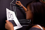 Lily Chu, 13, in Geometry Through Art class during Center for Talented Youth summer program at Lafayette College in Easton, PA on July 06, 2012. Several students were part of the Rural Connections scholarship program being offered for the first time this year.