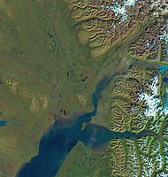 satellite image of Anchorage Alaska