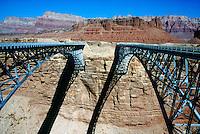 BRIDGES<br /> Navajo Bridges Over Colorado River at Marble Canyon.