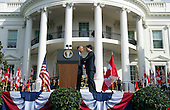 United States President Barack Obama (L) and Canadian Prime Justin Trudeau shake hands during an arrival ceremony on the South Lawn of the White House, in  Washington, D.C. on March 10, 2016. <br /> Credit: Kevin Dietsch / Pool via CNP