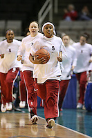 5 March 2007: Markisha Coleman, Clare Bodensteiner and the team during Stanford's 62-55 win over ASU in the finals of the women's Pac-10 tournament championship at HP Pavilion in San Jose, CA.