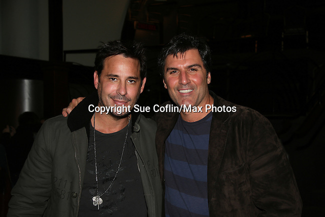 All My Children's Ricky Paull Goldin and Vincent Irizarry came to see fans on November 21, 2009 at Uncle Vinnie's Comedy Club at The Lane Theatre in Staten Island, NY for a VIP Meet and Greet for photos, autographs and a Q & A on stage. (Photo by Sue Coflikn/Max Photos)