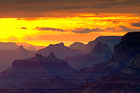 sunset from Desert view over the Grand Canyon
