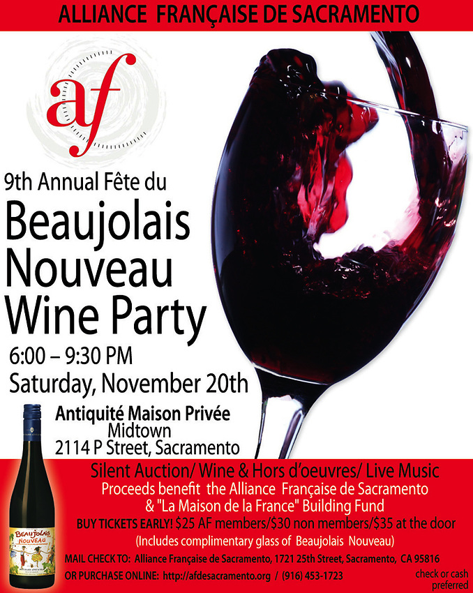 The Alliance de Sacramento's 9th Annual Fete du Beaujolais Nouveau, Antiquité Maison Privée, Sacramento, California, Saturday, November 20, 2010. (photo by Pico van Houtryve)
