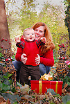 This 18-month-old boy and his mother wanted to brighten their family's holiday with a great Christmas card this photo was used in.