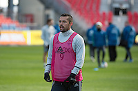 Toronto, ON, Canada - Friday Dec. 09, 2016: Herculez Gomez during training prior to MLS Cup at BMO Field.