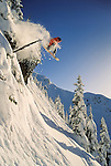 Alex Warburton snowboards on Whistler Mountain in the mid 90's.