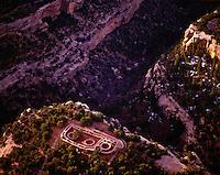 The Sun Temple at Mesa Verde Mesa Verde National Park, Colorado  Ancestral Puebloan Ruin    Aerial view