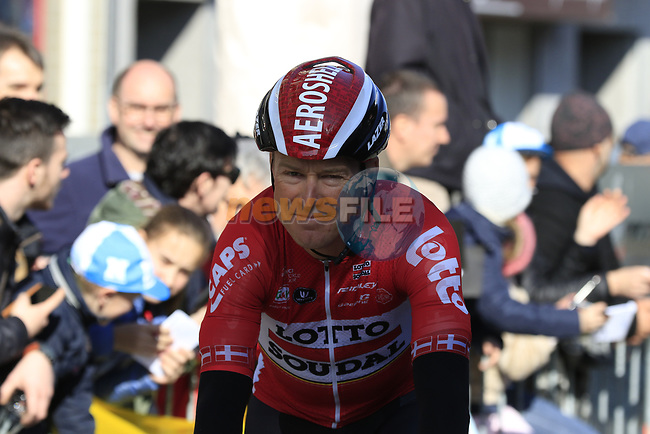 Lars Ytting Bak (DEN) Lotto-Soudal before the start of Gent-Wevelgem in Flanders Fields 2017, running 249km from Denieze to Wevelgem, Flanders, Belgium. 26th March 2017.<br /> Picture: Eoin Clarke | Cyclefile<br /> <br /> <br /> All photos usage must carry mandatory copyright credit (&copy; Cyclefile | Eoin Clarke)