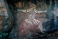 Rare Australian Aboriginal Cave and Rock wall paintings from eastern Arnhem Land, Northern Territory, Australia
