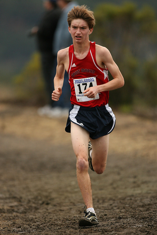 BELMONT, CA - NOVEMBER 1:  Robb Van Wyck of the Saint Mary's Gaels during the West Coast Conference Men's Cross Country Championships on November 1, 2008 in Belmont, California.