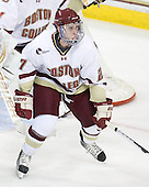 Patch Alber (BC - 27) - The Boston College Eagles defeated the visiting University of Maine Black Bears 4-0 on Friday, November 19, 2010, at Conte Forum in Chestnut Hill, Massachusetts.