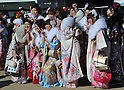 Young Japanese Ready for their Coming of Age Ceremony