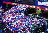 Balloons for the celebration on Thursday night after the Republican Party nominees for Vice President and President of the United States rest in big bags on the floor of the Quicken Loans Arena prior to their being lifted into the ceiling on Friday, July 15, 2016.<br /> Credit: Ron Sachs / CNP<br /> (RESTRICTION: NO New York or New Jersey Newspapers or newspapers within a 75 mile radius of New York City)