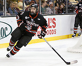 Cody Ferriero (Northeastern - 79) - The Boston College Eagles defeated the Northeastern University Huskies 5-4 in their Hockey East Semi-Final on Friday, March 18, 2011, at TD Garden in Boston, Massachusetts.
