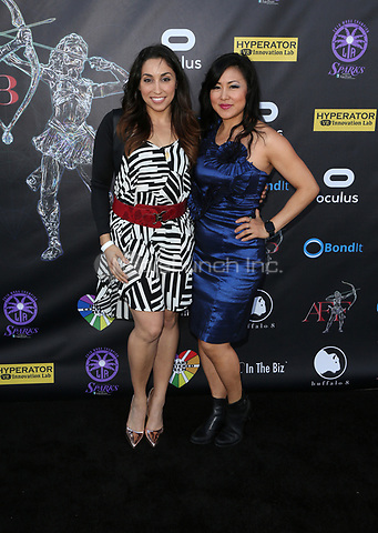 BEVERLY HILLS, CA - April 20: Michelle Jubilee Gonzalez, PeiPei Alena Yuan, At Artemis Women in Action Film Festival - Opening Night Gala At The Ahrya Fine Arts Theatre In California on April 20, 2017. Credit: FS/MediaPunch