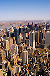New York City, New York: View from top of the Empire State Bldg  .Photo #: ny291-14955  .Photo copyright Lee Foster, www.fostertravel.com, lee@fostertravel.com, 510-549-2202.