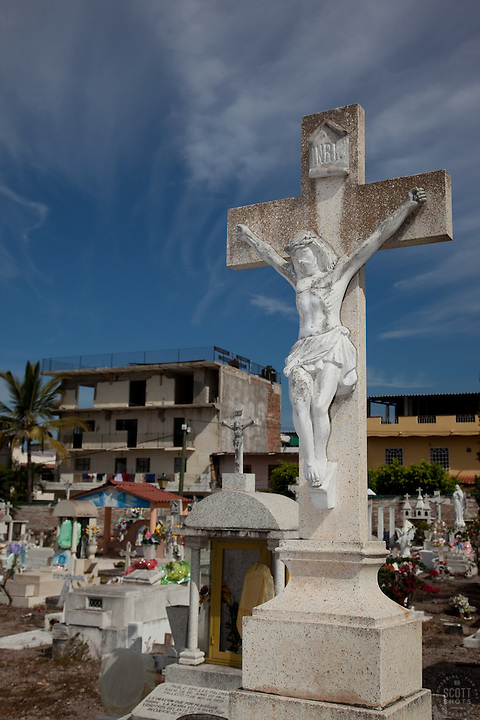 Mexican Cemetery 3 - Photograph taken in El Panteón Cementario, also know as Cementario Viejo or old cemetery, in Puerto Vallarta, Mexico.
