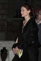 Sophie Ellis Bextor spotted arriving at Somerset House, London on 15 February for the PPQ event which was part of London Fashion Week LFW  Autumn Winter 2013 Show. Paparazzi Photos