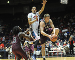 Ole Miss' Anthony Perez (13) vs. Arkansas Little Rock's Will Neighbour (53) at the C.M. &quot;Tad&quot; Smith Coliseum in Oxford, Miss. on Friday, November 16, 2012. Ole Miss won 92-52.