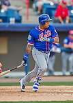 3 March 2016: New York Mets infielder Dominic Smith in action during a Spring Training pre-season game against the Washington Nationals at Space Coast Stadium in Viera, Florida. The Mets fell to the Nationals 9-4 in Grapefruit League play. Mandatory Credit: Ed Wolfstein Photo *** RAW (NEF) Image File Available ***