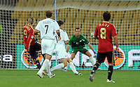 Fernando Torres of Spain scores the opening goal. Spain defeated New Zealand 5-0 during the FIFA Conferderations Cups at Royal Bafokeng Stadium, in Rustenburg South Africa on June 14, 2009.