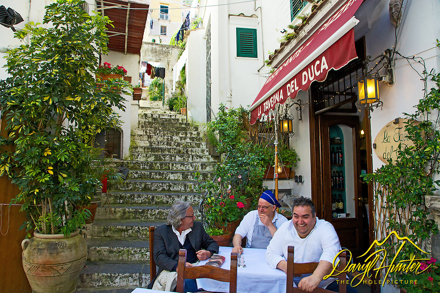 Outdoor cafe, Amalfi Italy