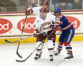 Brian Dumoulin (BC - 2), Bill Arnold (BC - 24), Riley Wetmore (Lowell - 16) - The Boston College Eagles defeated the visiting University of Massachusetts-Lowell River Hawks 5-3 (EN) on Saturday, January 22, 2011, at Conte Forum in Chestnut Hill, Massachusetts.