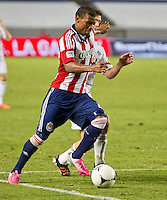 CARSON, CA - July 7, 2012: Chivas USA forward Jose Correa (27) during the Chivas USA vs Vancouver Whitecaps FC match at the Home Depot Center in Carson, California. Final score Vancouver Whitecaps FC 0, Chivas USA 0.