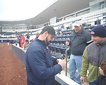 Former Rebel Ryan Bukvich signs autographs at Ole Miss baseball alumni game at Oxford-University Stadium in Oxford, Miss. on Saturday, February 5, 2011.