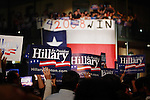 Atmosphere as seen after former US president Bill Clinton spoke to a crowd of Hillary Clinton supporters that had assembled to watch the televised CNN debate between Democratic presidential candidates Hillary Clinton and Barack Obama, Feb. 21, 2008, at Sunset Station, San Antonio, Texas. (Darren Abate/PressPhotoIntl.com)