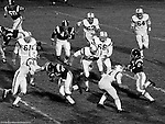 Bethel Park PA:  Defensive play with Mike Stewart and Glenn Eisaman stopping the Highlander quarterback - 1970.  Others in the photo; Ray Tedesco 61, Gary Biro 81, Dennis Franks 66, Jimmy Beck 67, and Dan Hannigan 64. After Scott Streiner was injuried on the first play, the team rallied and came up just short of winning the game when they missed a two-point conversion late in the 4th quarter (7-6).  Defensive unit was one of the best in Bethel Park history only allowing a little over 7 points a game.