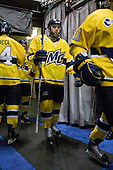 Carter Madsen (Merrimack - 9) - The University of Notre Dame Fighting Irish defeated the Merrimack College Warriors 4-3 in overtime in their NCAA Northeast Regional Semi-Final on Saturday, March 26, 2011, at Verizon Wireless Arena in Manchester, New Hampshire.