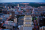Austin skyline as seen from the top of the Austonian building in Austin Texas, September 8, 2009.  The Austonian is a residential skyscraper currently under construction in Austin. Upon completion in 2009, the building will be the tallest in Austin at 683 feet tall with 56 floors.