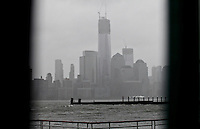 The world trade center is see as Hurricane Sandy begins to affect the area in Newport New Jersey United States. 29/10/2012. Photo by Kena Betancur/VIEWpress.