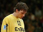 Handball Herren, 1.Bundesliga 2003/2004 Goeppingen (Germany) FrischAuf! Goeppingen - Wilhelmshavener HV (25:27) Fabian Kehle (FAG) traurig, enttaeuscht.