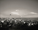 BI32,819-03...WASHINGTON - 1962 photograph of the Seattle skyline from Queen Ann Hill.W