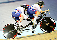 Picture by Simon Wilkinson/SWpix.com - 04/03/2017 - Cycling 2017 UCI Para-Cycling Track World Championships, Velosports Centre, Los Angeles USA -Sophie Thornhill Corrine Hall