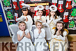 CHRISTMAS PLAY: Jessica Griffin, Cori Boylan, Chloe O'Donoghue, Yin Jun Chen, Grace Bright, Alice O' Connor   at Scoil Eoin, Balloonagh enjoying their Christmas play on Tuesday