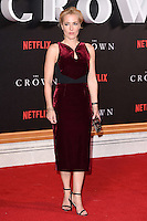 LONDON, UK. November 1, 2016: Gillian Anderson at the World Premiere of the Netflix series &quot;The Crown&quot; at the Odeon Leicester Square, London.<br /> Picture: Steve Vas/Featureflash/SilverHub 0208 004 5359/ 07711 972644 Editors@silverhubmedia.com
