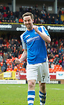 Dundee United v St Johnstone.....04.05.13      SPL.Steven MacLean celebrates at full time.Picture by Graeme Hart..Copyright Perthshire Picture Agency.Tel: 01738 623350  Mobile: 07990 594431
