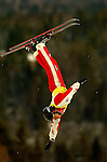16 January 2005 - Lake Placid, New York, USA - Lydia Ierodiaconou representing Australia, competes in the FIS World Cup Ladies' Aerial acrobatic competition, ranking 2nd for the day and winning the Silver Medal at the MacKenzie-Intervale Ski Jumping Complex, in Lake Placid, NY. ..Mandatory Credit: Ed Wolfstein Photo.