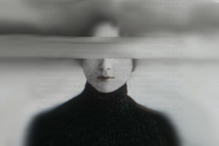 A woman with eyes blurred wearing black top