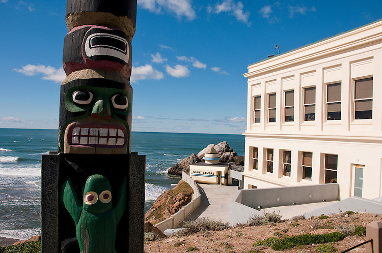 Totem Pole, Cliff House, near Golden Gate Park, San Francisco, California, USA.  Photo copyright Lee Foster.  Photo # california108530